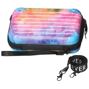 Mini Luggage Wristlet Crossbody Handbag Box